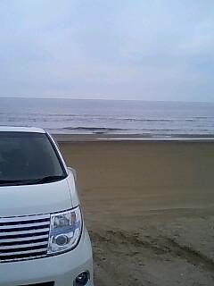 千里浜です